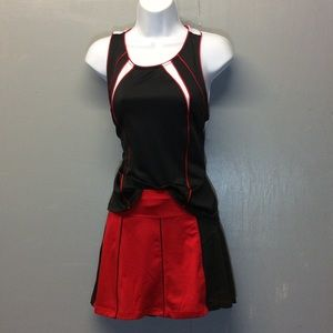 Tail M/L Red Black & White Skort Sport Top/Bottom